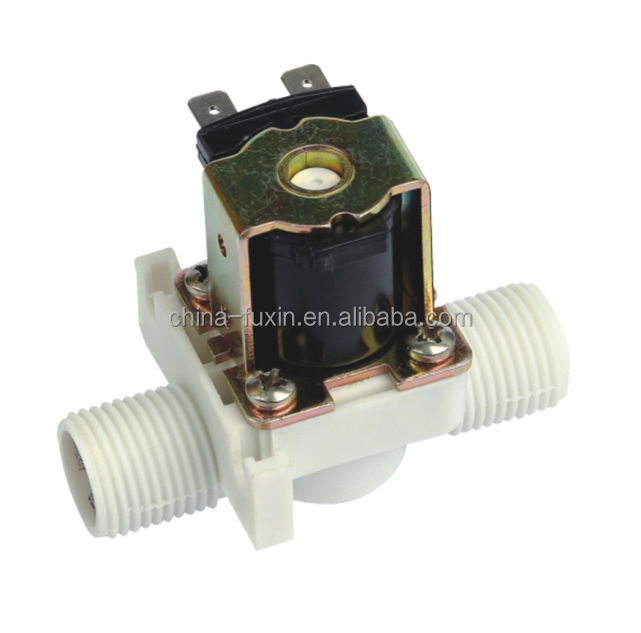 plastic pipe fitting flow control solenoid valve washing machine electric valve 220vac