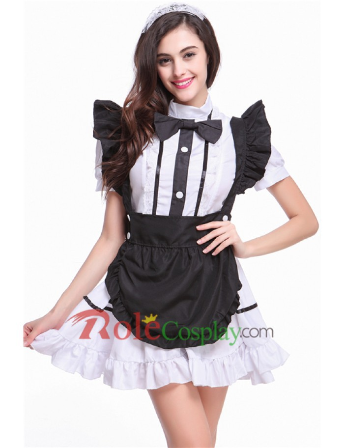 2015 New Anime Cosplay Costume Maid Servant Costume Apron Dress French Maid Servant Costume