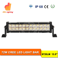 super bright double row 13.5inch 72w crees 12v led vehicle light bars for trucks