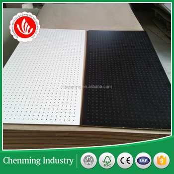 perforated board /pegboard MDF 4mm thickness
