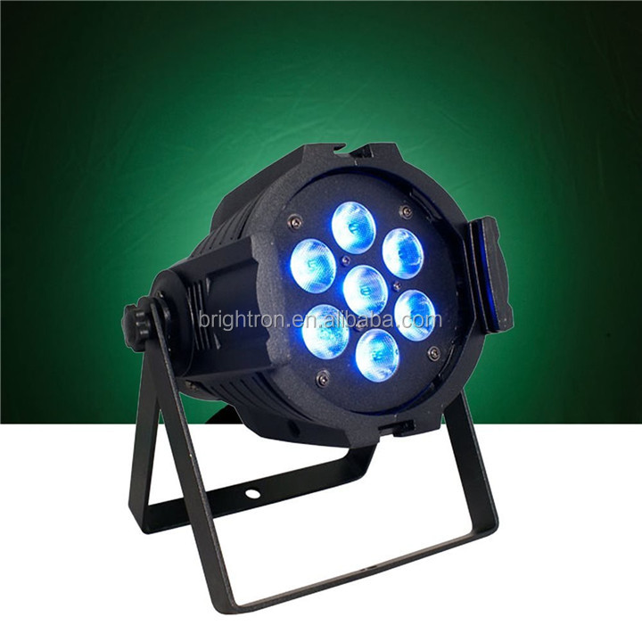 LED Up Lighting RGBW LED Par Lights 10W x 7 LED DMX 4-in-1 Par Can Stage Lighting