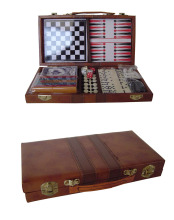 Backgammon Set Brown Leather Portable Travel Folding Case backgammon checkers board game chess sets