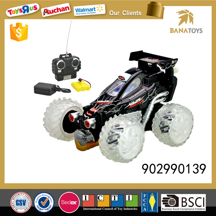Battery operated remote control stunt car with music