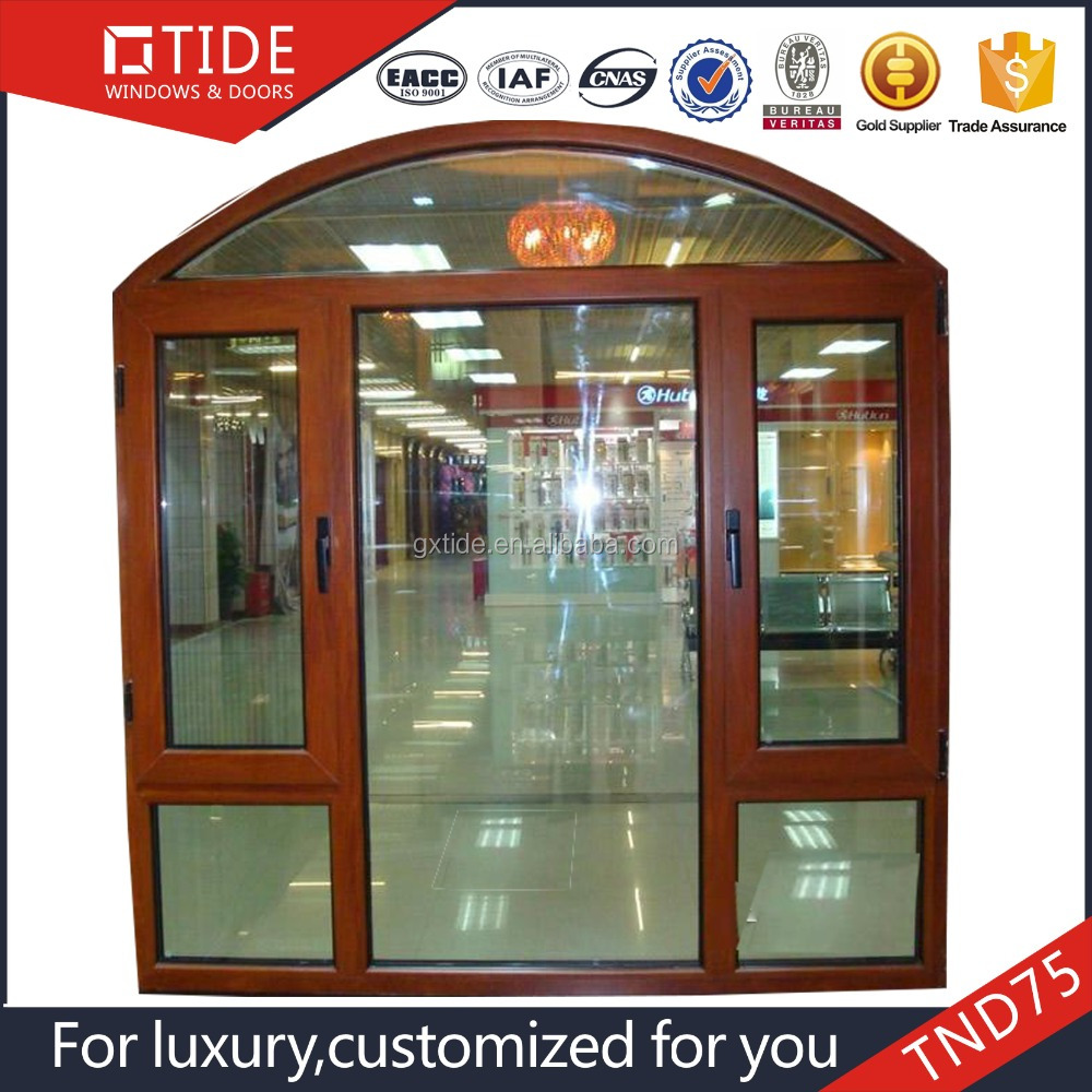TIDE75 wooden door and window arched on top/aluminum clad wood arch windows