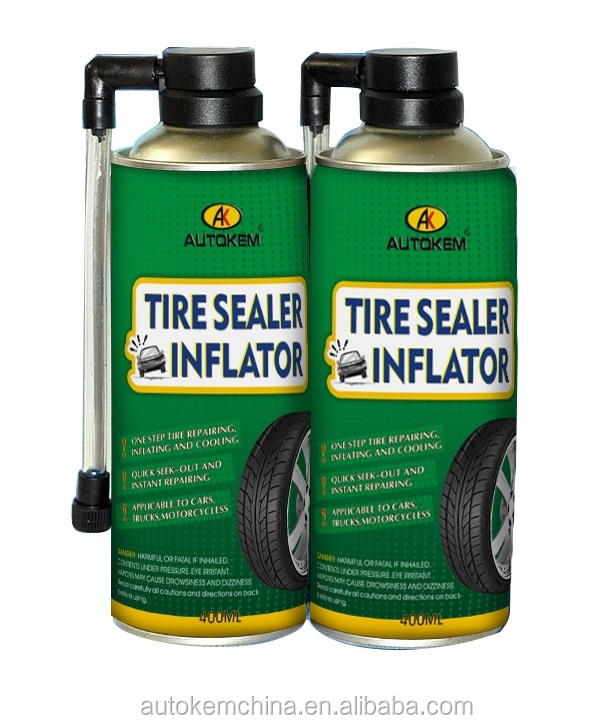 400ml/500ml/600ml Good quality 10oz tire sealer inflator spray Emergency Puncture Repair/ Automatic tire sealant and inflator