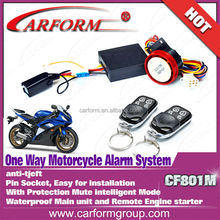 Auto parts 12V alarm system motorcycle with remote engine start