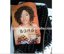 New afro kinky nubian twist crochet braids with synthetic hair bomb crochet hair extension
