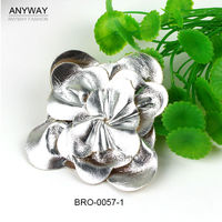 Fashion Silver PU Leather Flower For