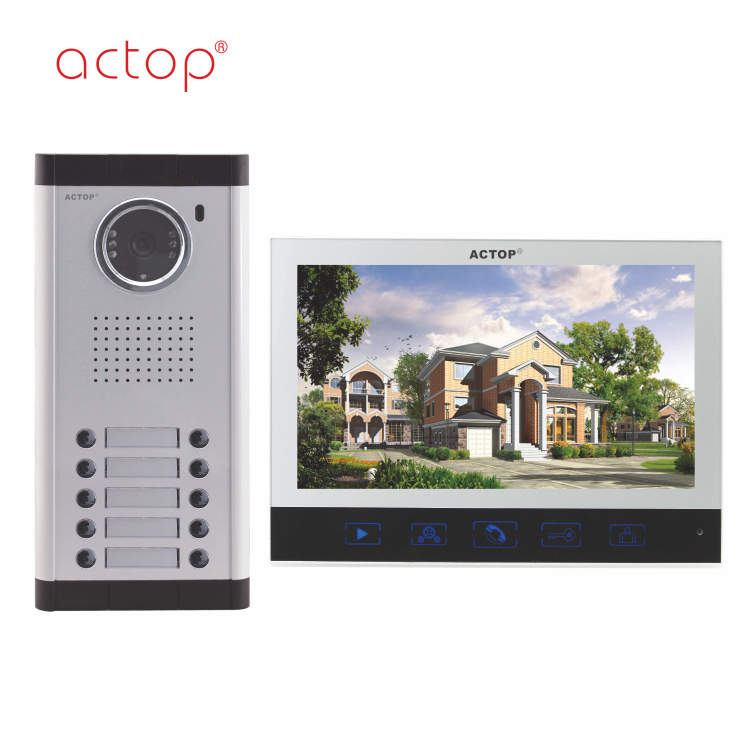 Shenzhen factory ACTOP wired competitive video door bell rain proof for 10 apartments building
