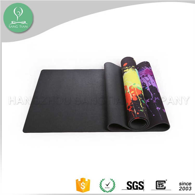 natural rubber yoga fitness exercise gym mat tapis gym