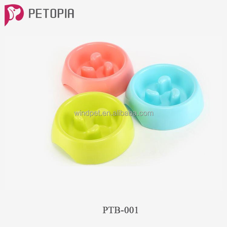 Plastic Slow Pet Feeder Slow Feed Dog Bowl for Sale