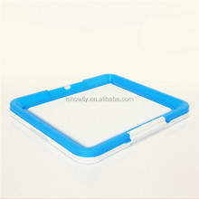 Blue Easy assembly New Durable plastic Cat litter tray/cat litter pan / cat toliet non-slip base and durable