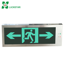 Stainless steel opening led emergency light emergency exit sign board
