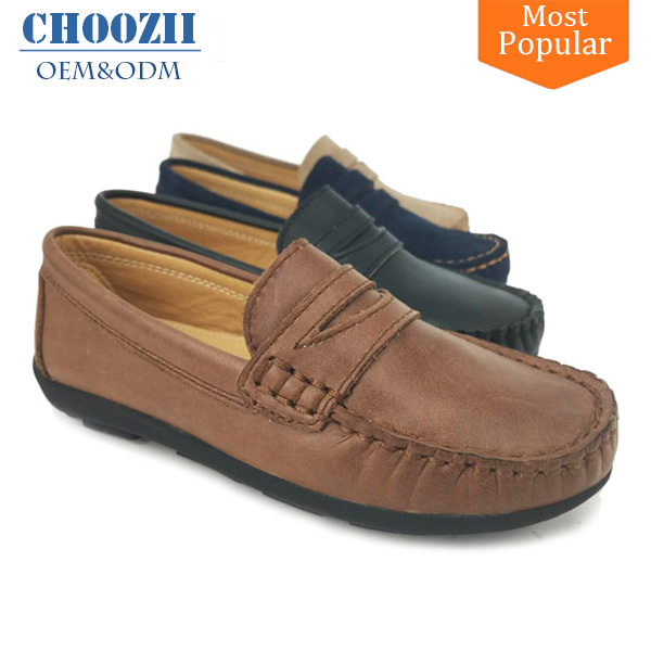 Choozii Men Loafers Casual Design Kid Suede Leather No Lace Shoes