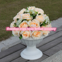 high quality artificial silk flowers ball for wedding aisle centerpieces decor