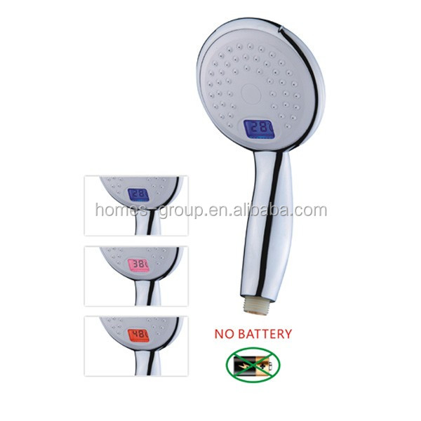 Large temperature display Shower Handset without battery