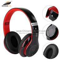 Wholesale consumer electronics super bass stereo foldable noise cancelling wireless headphone bluetooth with fm radio