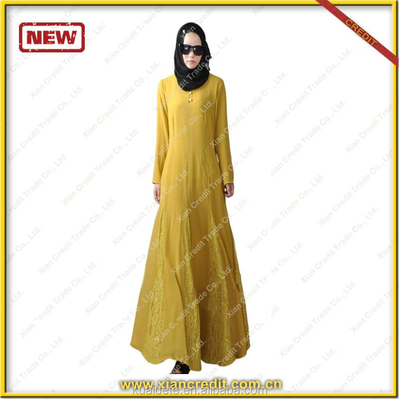 Wholesale dubai fashion dresses model baju kebaya Muslim Abaya