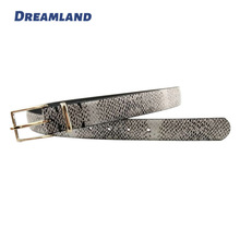 snake fake leather belts for women dress
