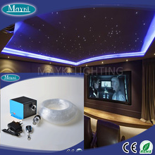 Optical fiber starry lighting ceiling for kids bedroom using