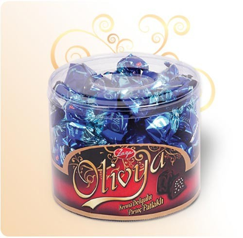 olivya Single Twist pvc acetate gift boxed compound chocolate with low prices high quality from Turkey flavored