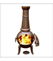 Cast Iron Outdoor Heater Chiminea Wood Burning Patio Chimenea