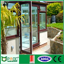 Wooden Grain Aluminium Swing Door with Japanese Style PNOC0022CMD
