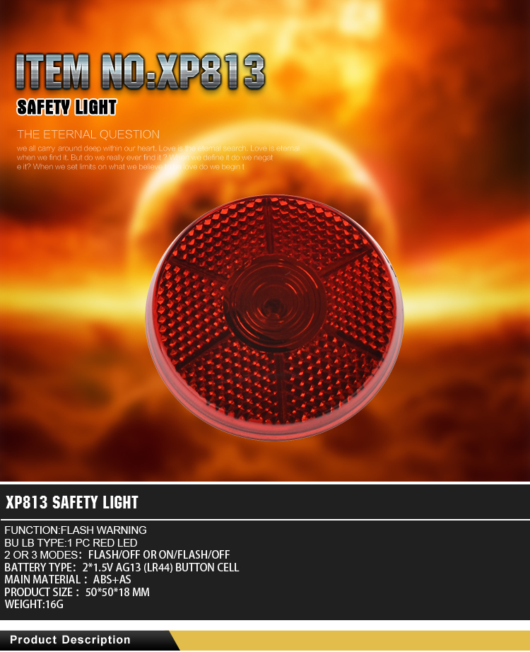 Competitive price factory supply solar powered led flashing warning lights