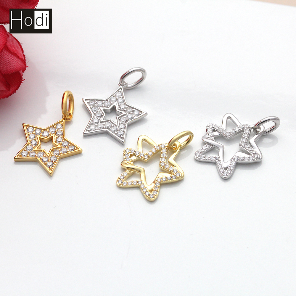 star heart shooting clear rhinestone crystal pendant necklace shape open