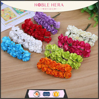 8 colors cheap paper flower head flower for DIY accessories
