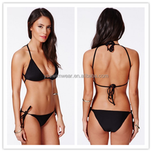2015 Hot fashion black bikini swimwear