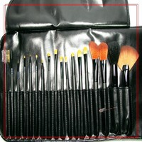 factory in stock face care mak up brush 18pcs goat hair makeup brush set/fancy hair black cosmetic brushes