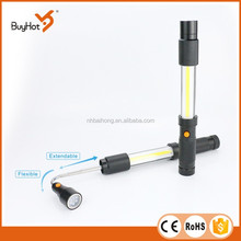 Aluminium led work light Pick up tool 3W COB+ 6 LED, telescope matal bar , magnets on the top and bottom