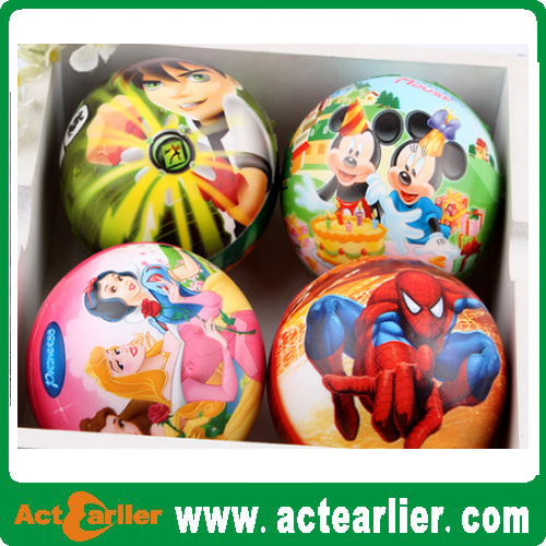 inflatable 9inch full printing plastic toy ball for kids