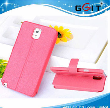 Silk Grain Cover for Galaxy For Note 3 N9000 Flip Cover
