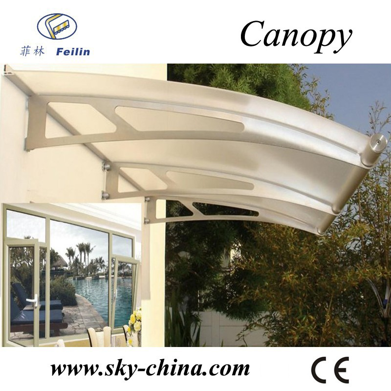 Aluminum frame snow driveway gate canopy carports