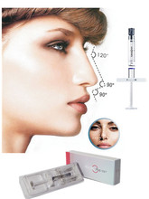 GMP beauty cosmetic dermal ha hydrogel nose injections for sale/2ml BDDE filler