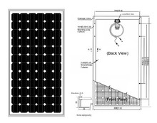 OLLIN competitive price 12v 150w solar panel monocrystalline 125 36cells