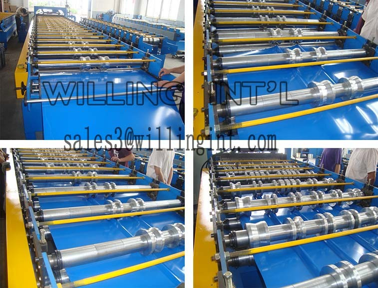 Double layer roll forming machine(610mm,1250mm) high quality and low price