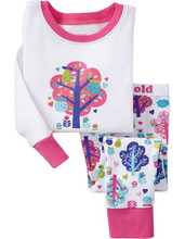 2.5USD girls cotton pyjama sets children 2 pieces clothing sets factory direct