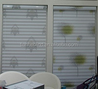 Solid printed Shangri-la blinds for living rooms