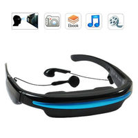 "Movies on 52"" Virtual Screen EyeWear Video Glasses With Built in 4gb memory QVG280"