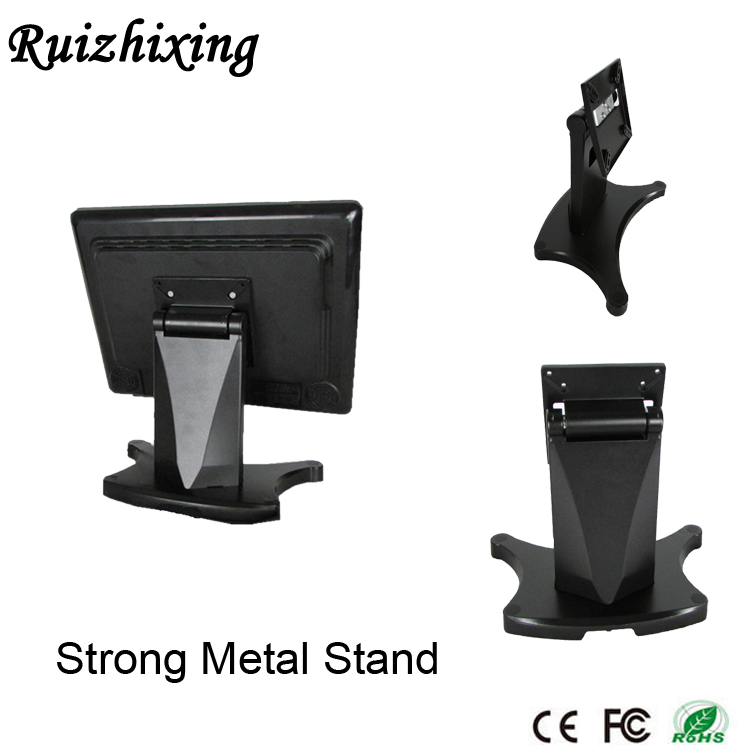 Factory 10''-20'' heavy duty Adjustable aluminum alloy and metal Desktop vesa lcd monitor stand
