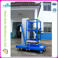 Hydraulic Single mast aluminum alloy warehouse Personnel platform lift