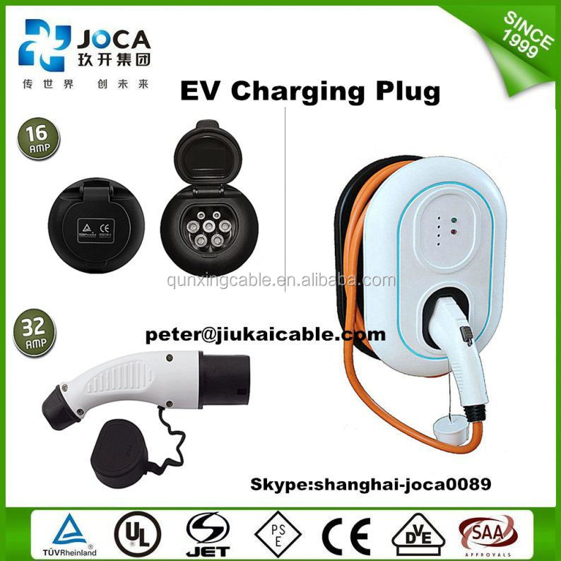 Electric car cable power plug ev charging station type 2 ev charging