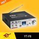 sound digital vacuum tube YT-F6 with wireless microphone support FM/MIC/TF/USB