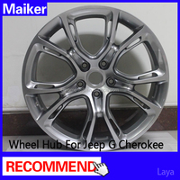 SRT8 Alloy wheel rims Highlight Black for Jeep Grand Cherokee wheels hub maiker