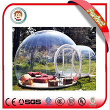 Outdoor wholesale price transparent camping tent, inflatable air tent camping