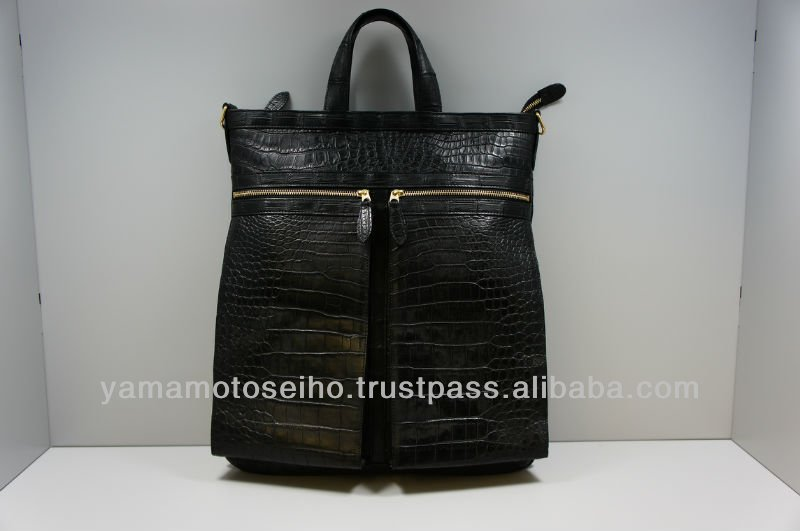 belt bag backpack bag crocodile leather