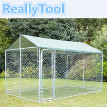 Pet Dog Run House Kennel Shade Cage Roof Cover High Qulity outdoor chain link dog Cages